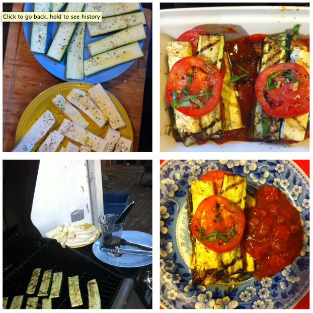 tofu, zucchini, lasagna, marinara