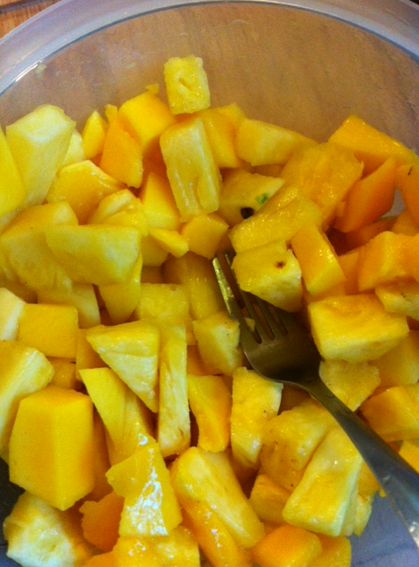 mango and pineapple