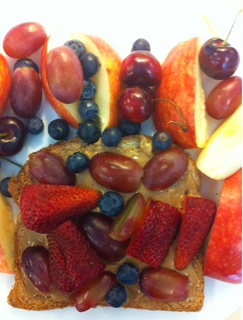 strawberries, blueberries, cherries, apples...