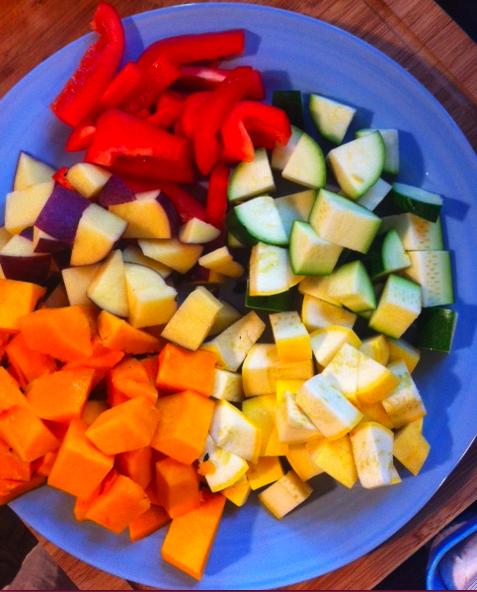 squash soup: before